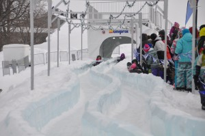 An ice slide at Quebec's Winter Carnival